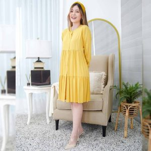 Savaya Dress Beatrice Clothing - Blouse Wanita - Mustard
