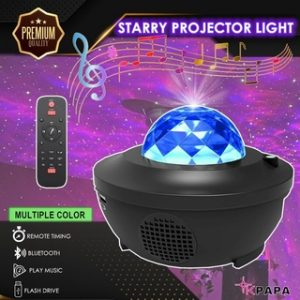 Galaxy LED Projector Music Starry Water Wave LED Mulit Color Projector Light Bluetooth Speaker Star Moon Night Lighting