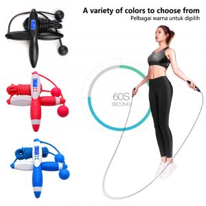 🔥【ready stock】🔥Digital Jump Rope Counting Calorie Fitness Sport Weight-bearing Skipping Ropes Workout Excercise Tool