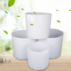 Round Fabric Pot Plant Pouch Root Container Grow Bag Agriculture Garden Aeration Non Woven Vegetables Container