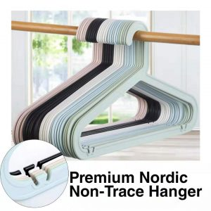 Premium Hanger No Trace Nordic Color plastic clothes Hanger Baju Ikea Style [Ready Stock] Adult Hanger Dewasa