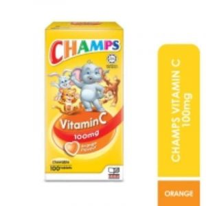 CHAMPS VITAMIN C KIDS 100MG-100 TABLET