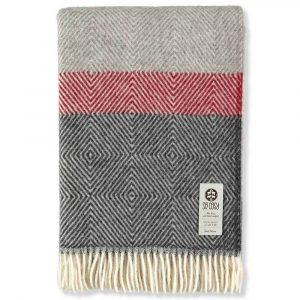 Black Grey & Red Blanket
