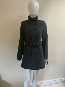 Womens Grey Coat. Size 8