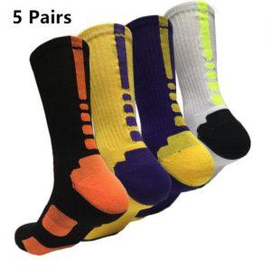 Men's 5 Pairs Sport Socks Crew Skating Basketball Ankle Sock Casual Socks 7-12