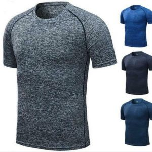 Mens Compression short Sleeve Sports Running Shirt Fitness quickly dry T-shirt