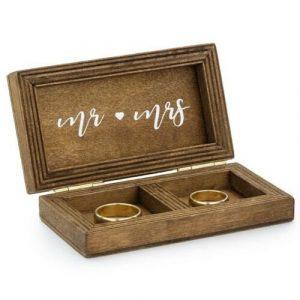Ring Bearer Wooden Wedding Ring Box