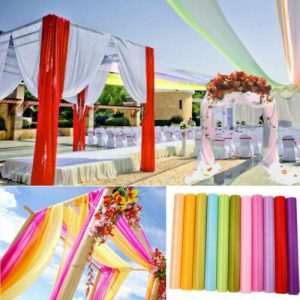 Wedding Backdrop Gauze Curtain Organza Fabric Wedding Party Table Decoration
