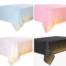 137*274 cm Square Disposable Dot Print Disposable Tablecloth Birthday Weddings Party Picnic Decorative Tablecover