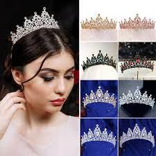 Elegant Flower Vine Bridal Crown Bridesmaid Wedding Party Crystal Tiara Headband